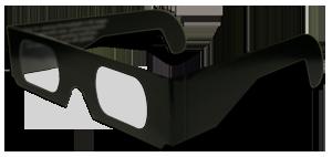 Lunettes 3D ChromaDepth carton standard