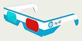 lunettes anaglyphes HP - 4D