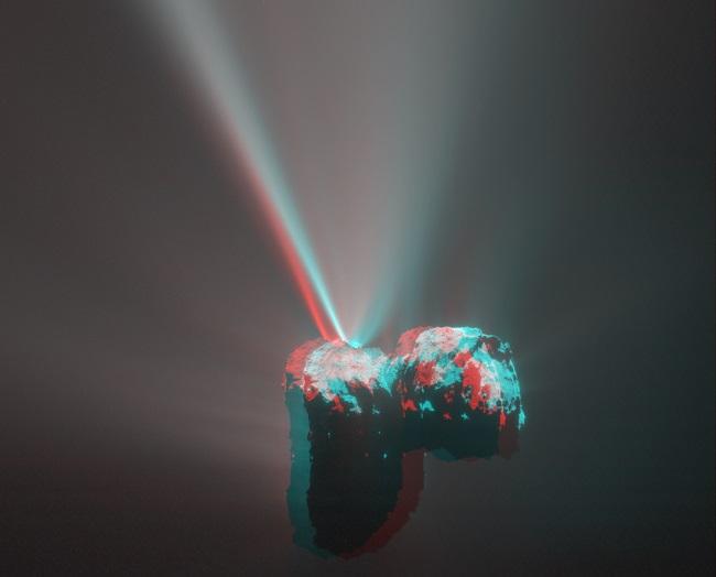 Comète Roseta en 3D