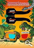 Encart avec lunettes 3d détachables-les dinosaures en bande dessinée