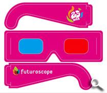 Encarts avec lunettes 3d détachables - Futuroscope