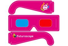 Encarts avec lunettes 3D détachables